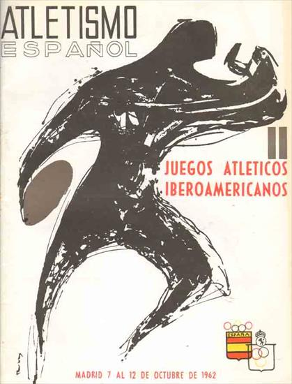 II JUEGOS ATLETICOS IBEROAMERICANOS 1962 (Guide/Preview Atletismo Espanol)