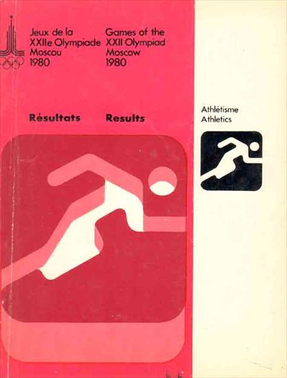 OFFICIAL RESULTS REPORT OLYMPIC GAMES 1980 ATHLETICS
