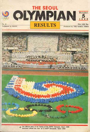 THE SEOUL OLYMPIAN. THE OFFICIAL RESULTS OF THE 1988 OLYMPIC GAMES