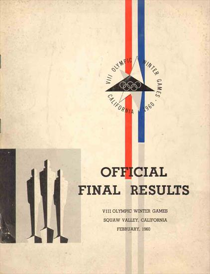 OFFICIAL FINAL RESULTS VIII OLYMPIC WINTER GAMES 1960