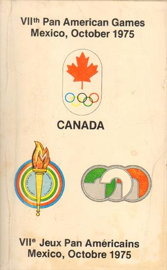 MEDIA GUIDE TEAM CANADA PAN-AMERICAN GAMES MEXICO 1975