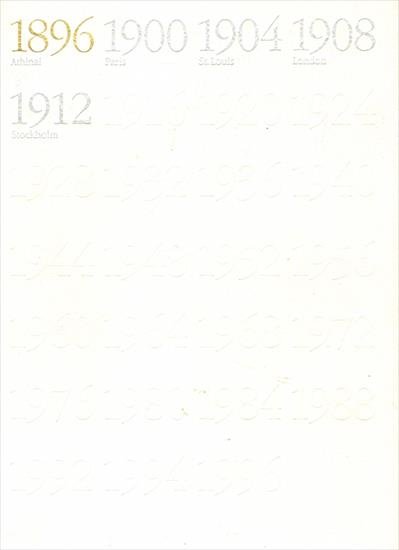 100 YEARS OF THE OLYMPIC GAMES OF MODERN TIMES 1896 - 1996 (Complete set of 6 books - 1494 pages !!)