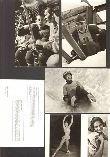POSTCARD SET : WINTER SPORTS CHAMPIONS OF CZECHO-SLOVAKIA