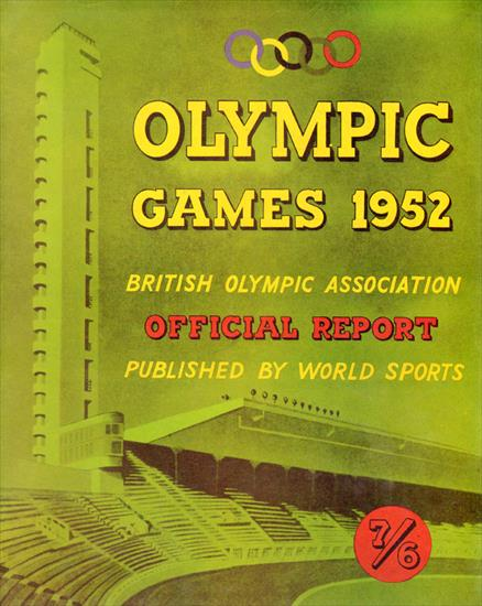 British Olympic Association OFFICIAL REPORT OF THE OLYMPIC GAMES 1952