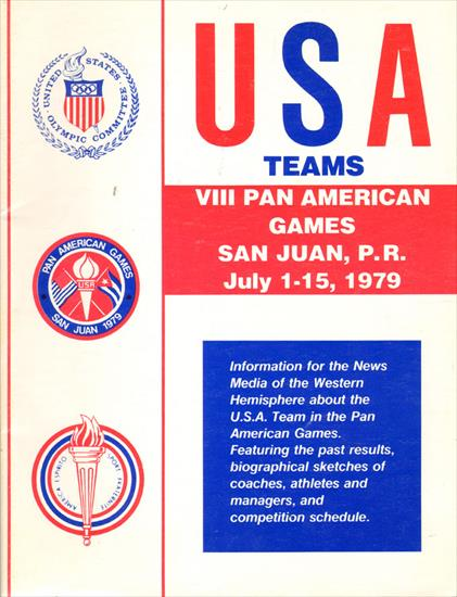 MEDIA GUIDE UNITED STATES TEAMS VIII PAN AMERICAN GAMES 1979