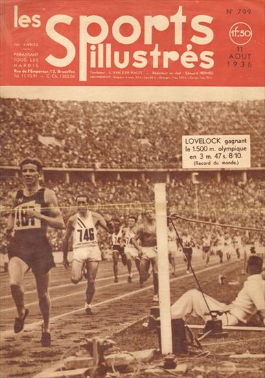 ATHLETICS AT THE 1936 OLYMPIC GAMES (Les Sports Illustrés N° 799 - 11.08.1936)