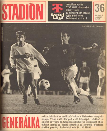 STADION 1969 (CZECHO-SLOVAKIA). COMPLETE YEAR - 52 Issues - 1664 Pages !