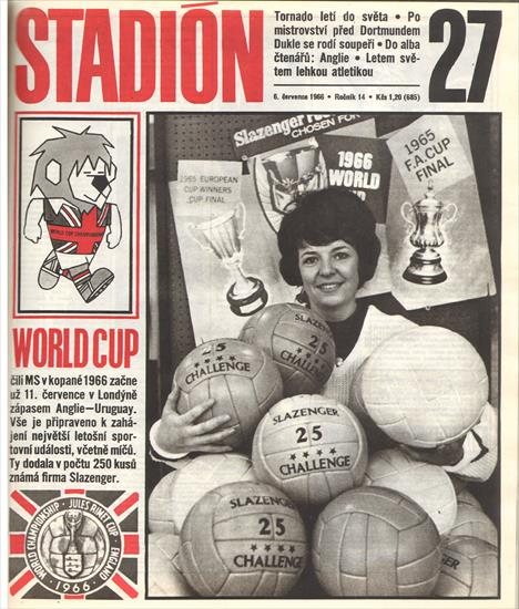 STADION 1966 (CZECHO-SLOVAKIA). COMPLETE YEAR - 52 Issues - 1664 Pages ! (Inc. World Cup 1966)