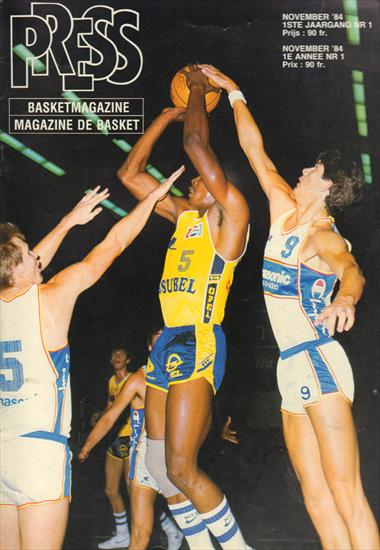 "SET 18 x BELGIAN BASKETBALL MAGAZINE ""PRESS"" BASKET MAGAZINE / MAGAZINE DE BASKET (French / Dutch)"