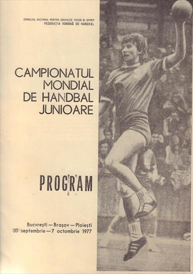 HANDBALL PROGRAMME WORLD CHAMPIONSHIP JUNIORS WOMEN 1977