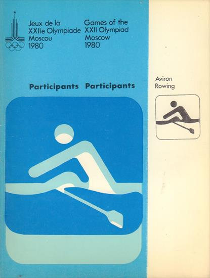 OLYMPIC GAMES MOSCOW 1980 PARTICIPANTS ROWING