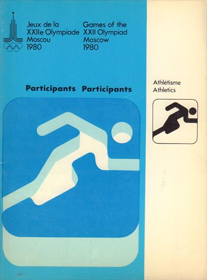 OLYMPIC GAMES MOSCOW 1980 PARTICIPANTS ATHLETICS