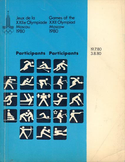 OLYMPIC GAMES MOSCOW 1980 PARTICIPANTS (All Sports)