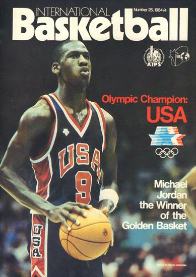PREVIEW + REVIEW OLYMPIC GAMES BASKETBALL TOURNAMENT 1984 (Top) (Official FIBA Magazine)