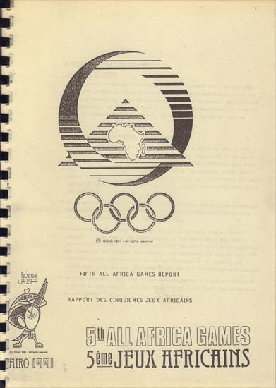OFFICIAL REPORT 5th ALL AFRICA GAMES CAIRO 1991