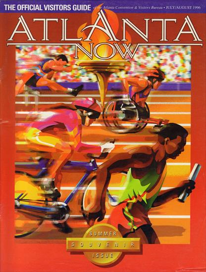 ALANTA NOW. THE OFFICIAL VISTORS GUIDE OLYMPIC GAMES 1996