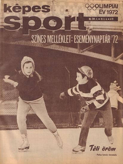 COMPLETE YEAR KEPES SPORT MAGAZINE HUNGARY 1972 (Bound Volume) (52 magazines !)(w Olympic Games 1972)