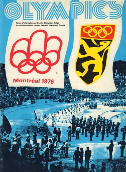 MEDIA GUIDE BELGIUM OLYMPIC GAMES MONTREAL 1976