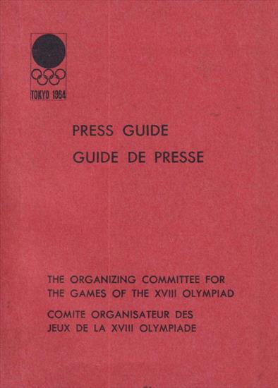 PRESS GUIDE TOKYO 1964 OLYMPIC GAMES (French / English)