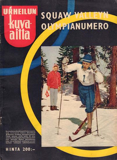 SQUAW VALLEYN OLYMPIANUMERO (Top Illustrated Review 1960 Olympic Winter Games)