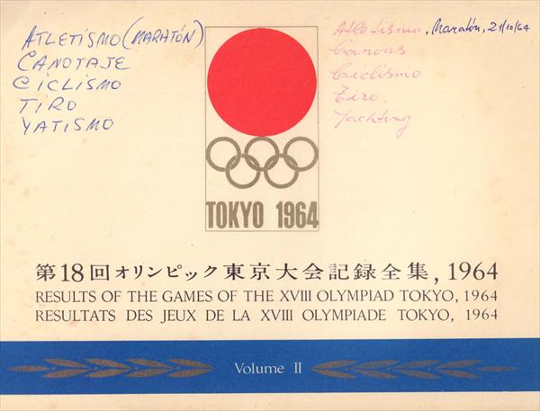 4 VOLUME OFFICIAL RESULTS REPORT OLYMPIC GAMES TOKYO 1964