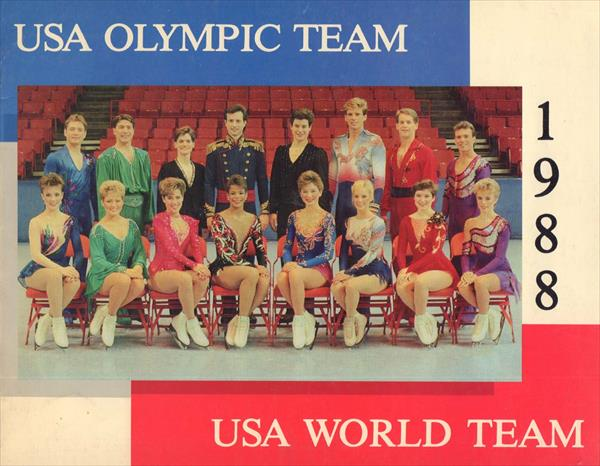 FIGURE SKATING USA OLYMPIC TEAM 1988