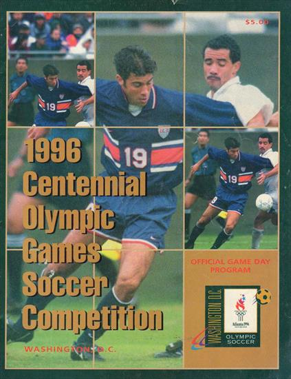 OFFICIAL PROGRAM FOOTBALL TOURNAMENT OLYMPIC GAMES ATLANTA 1996