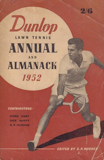 DUNLOP LAWN TENNIS ANNUAL AND ALMANCK 1952