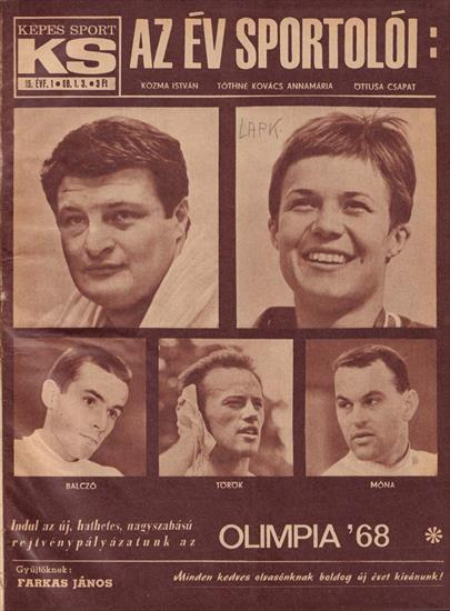COMPLETE YEAR KEPES SPORT MAGAZINE HUNGARY 1968 (w OLympic Games Mexico 1968) (Bound Volume) (52 magazines !)