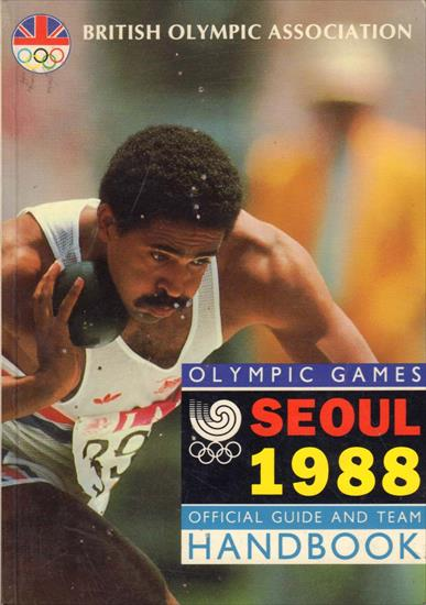 BRITISH OLYMPIC ASSOCIATION OFFICIAL MEDIA GUIDE SEOUL 1988
