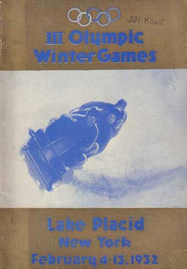 III OLYMPIC WINTER GAMES LAKE PLACID & NEW YORK 1932. OFFICIAL PROGRAM