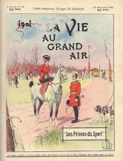 BOUND VOLUME LA VIE AU GRAND AIR 1900 N° 100 (12.08.1900) up to N° 150 (28.07.1901)(w Olympic Games 1900 & Major Taylor in Europe)