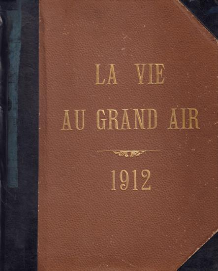 COMPLETE YEAR LA VIE AU GRAND AIR 1912 (Bound Volume) (w Olympic Games 1912 & Complete set full colour cards)
