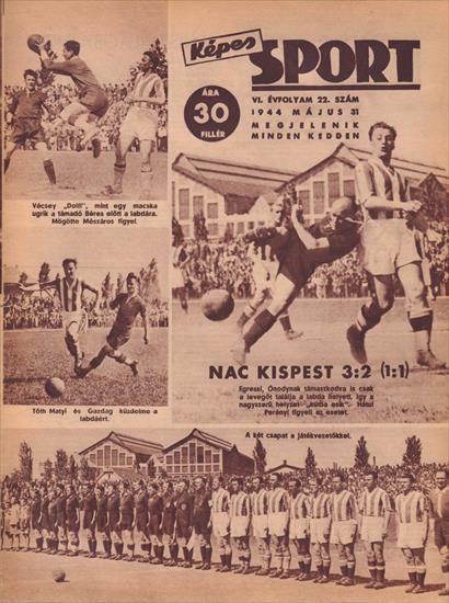 NR COMPLETE YEAR KEPES SPORT MAGAZINE HUNGARY 1944 (Top and very rare World War II Documentation)(49 magazines)