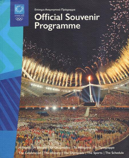 OFFICIAL SOUVENIR PROGRAMME OLYMPIC GAMES ATHENS 2004 (Top / 340 pages)