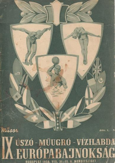 OFFICIAL PROGRAM 11th EUROPEAN SWIMMING WATERPOLO CHAMPIONSHIP 1958 (w History Euro Championships)
