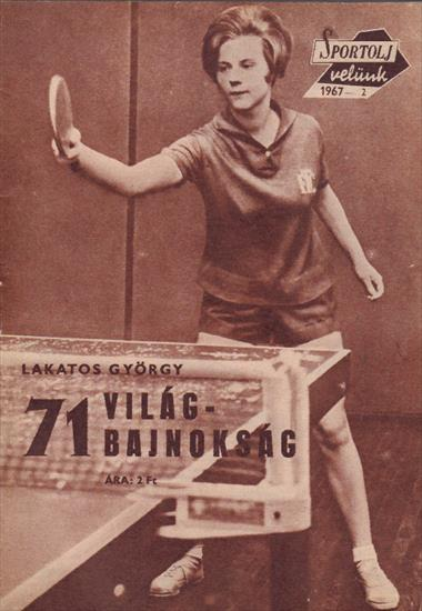 PREVIEW 1967 TABLE TENNIS WORLD CHAMPIONSHIPS (Sportolj Velunk)(Top)