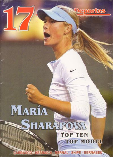 MARIA SHARAPOVA TOP TEN, TOP MODEL.  REVISTA 17 (URUGUAY)