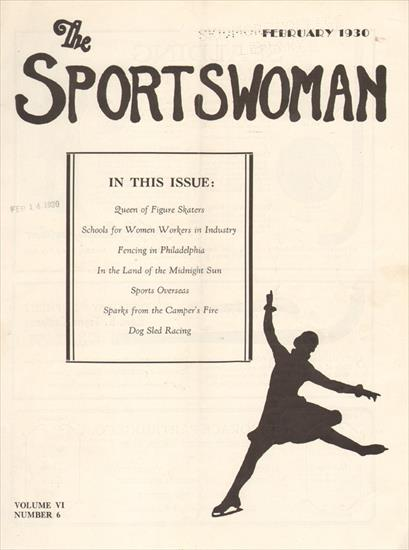 THE SPORTSWOMAN. QUEEN OF FIGURE SKATERS (February 1930)