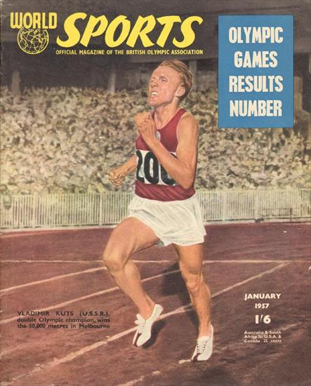 WORLD SPORTS OLYMPIC GAMES RESULTS NUMBER 1956