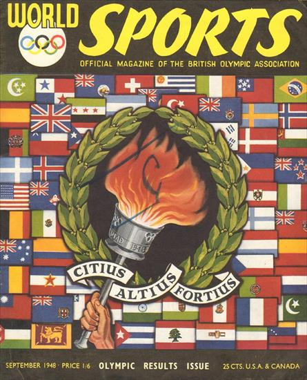 WORLD SPORTS OLYMPIC GAMES RESULTS ISSUE 1948