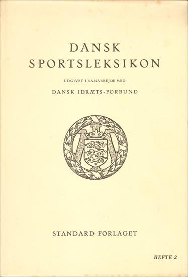 DANSK SPORTLEKSIKON 1845 - 1945 (40 VOLUMES !!)