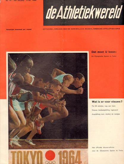 ATLETIEKWERELD ATHLETICS MAGAZINE PREVIEW OLYMPIC GAMES 1964 TOKIO