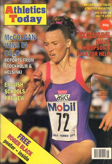 ATHLETICS TODAY COMPLETE SET JUNE - SEPTEMBER 1992 (12 magazines)