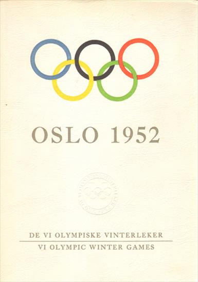 OSLO 1952. DE VI OLYMPISKE VINTERLEKER. VI OLYMPIC WINTER GAMES (OFFICIAL REPORT)