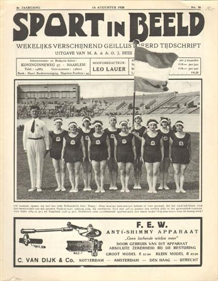 SPORT IN BEELD : OLYMPIC GAMES AMSTERDAM 1928 (with many portraits of Olympic champions)