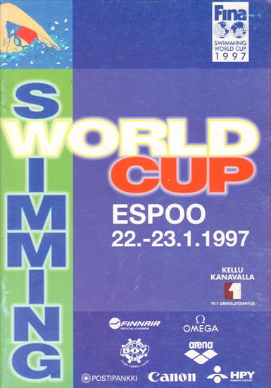 OFFICIAL PROGRAM SWIMMING WORLD CUP 1997