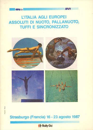 OFFICIAL PROGRAM SWIMMING EUROPEAN CHAMPIONSHIP 1987 TEAM ITALY